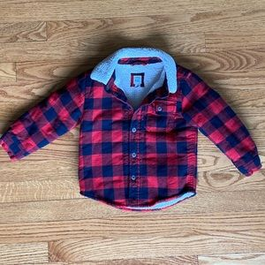 Baby Gap Lined Flannel Jacket Size 3t